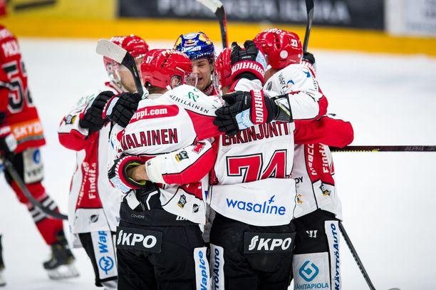 Antti Erkinjuntti teki Sportin voittomaalin JYPiä vastaan joulukuun 7. päivänä.