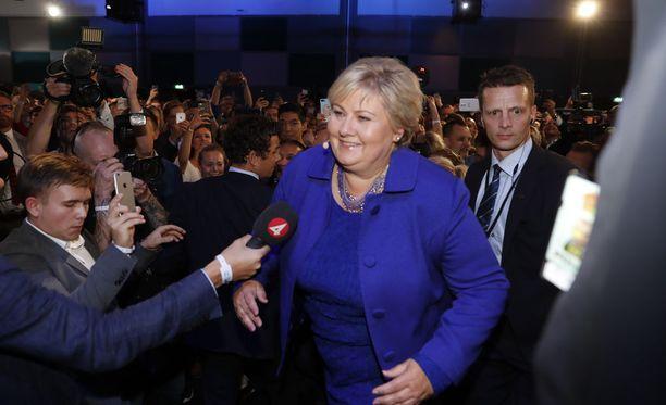 Norjan konservatiivipuolueen pääministeri Erna Solberg on voittanut parlamenttivaalit.