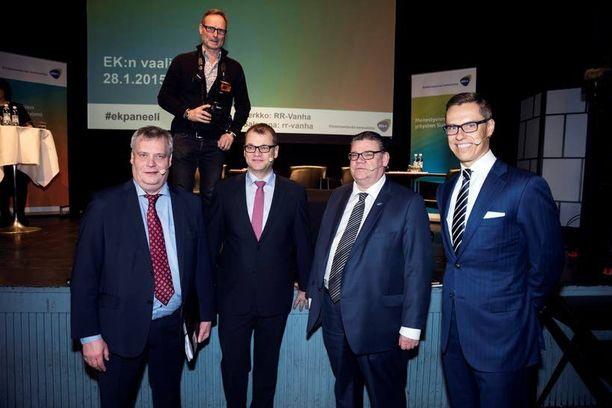 Neljän suurimman puolueen johtajilta odotetaan säästölistoja: Antti Rinne (sd), Juha Sipilä (kesk), Timo Soini (ps) ja Alexander Stubb (kok).