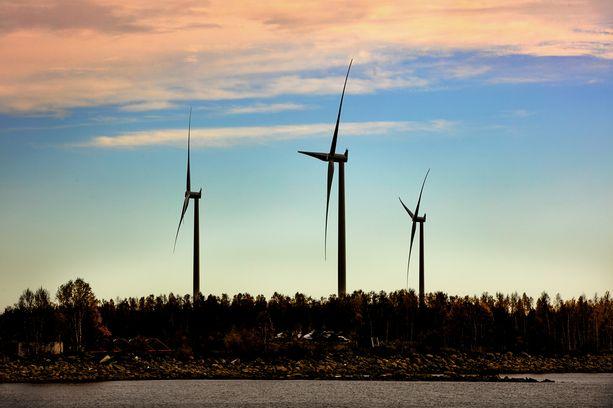 Kemin Ajos, tuulivoimapuisto.