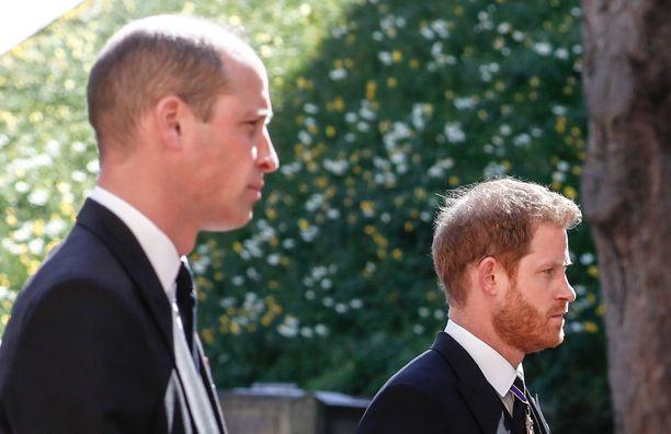 Prinssit William ja Harry eilen.