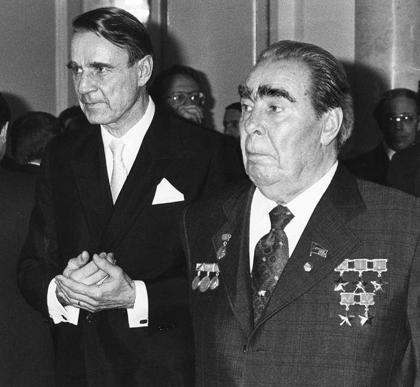 Mauno Koivisto tapasi Neuvostojohtaja Leonid Brezhnevin Moskovassa marraskuussa 1982.