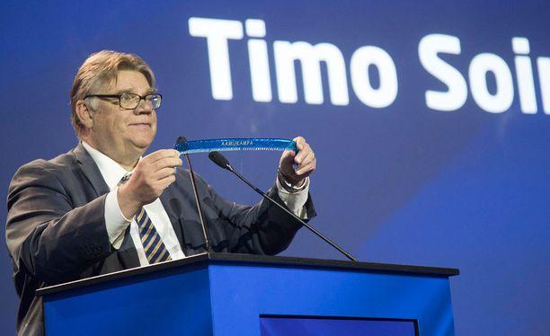 Perussuomalaisten ex-puheenjohtaja Timo Soini.