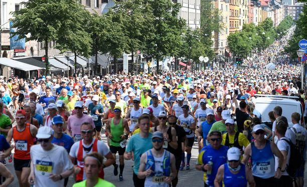 Tukholman maratonilla 200 ihmistä eksyi reitiltä.