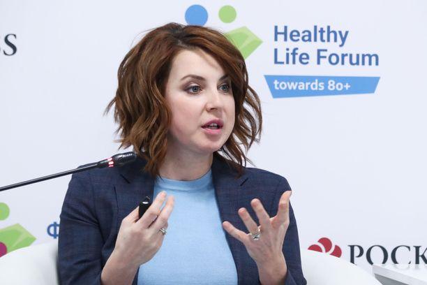 Irina Slutskaja vuonna 2019. Hän toimii nykyään terveysviranomaisena.