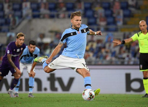 Lazio ja Ciro Immobile ovat päässeet laukomaan runsaasti rangaistuspotkuja.
