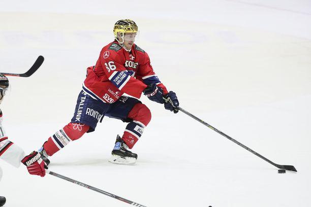 HIFK:n Erik Thorell oli kolmannessa erässä pitelemätön ja ampui kaksi maalia.