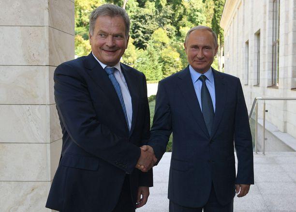 Vladimir Putin saapuu Suomeen keskiviikkona. Vierailua isännöi Sauli Niinistö.