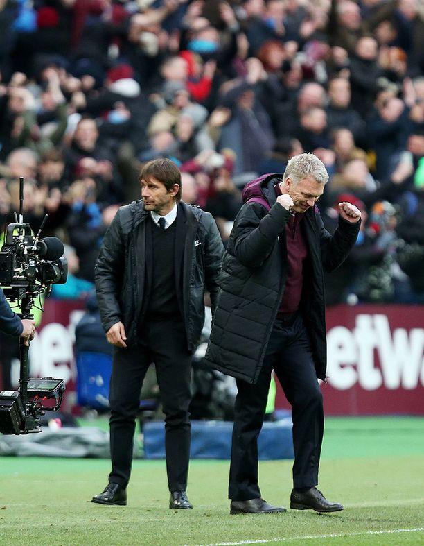 Antonio Conten Chelsea pysähtyi David Moyesin West Hamiin.