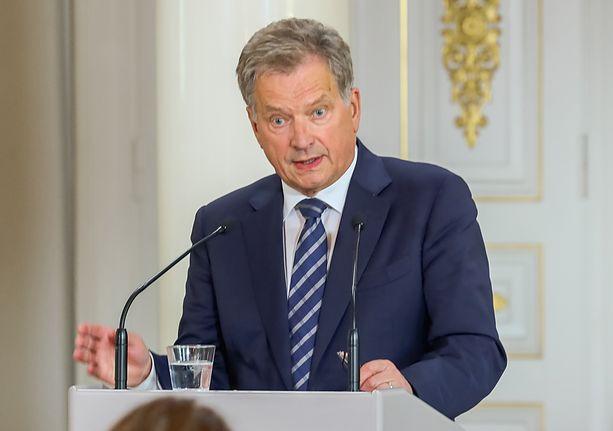 Presidentti Niinistö puhui YK:n yleiskokouksen avajaiskokouksessa. Arkistokuva.
