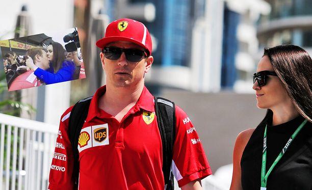 """Kimi ja Minttu Räikkönen ottivat toisesta sijasta """"kaiken irti""""."""