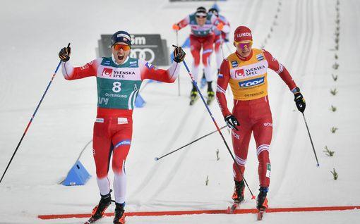 Vain Bolshunov pystyi haastamaan norjalaisrintaman – Iivo Niskanen nousi 18 sijaa