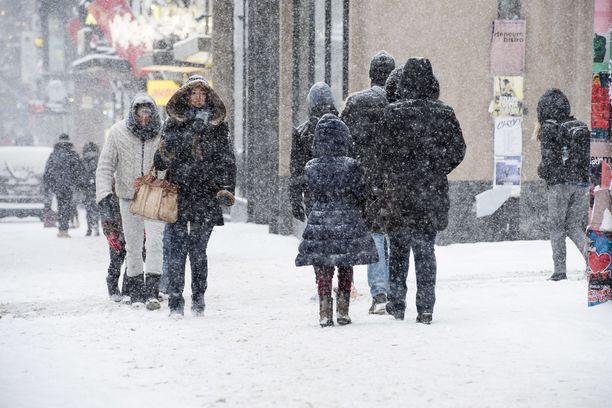 Vuoden 2017 alussa sää oli Helsingissä tämä.