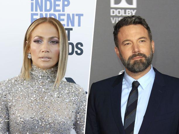 Jennifer Lopez ja Ben Affleck lomailivat kahdestaan Montanassa.
