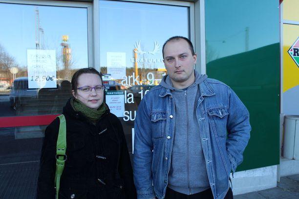 Tyhjä reissu tehtiin, pahoittelivat Marjut ja Joni Soverinaho.