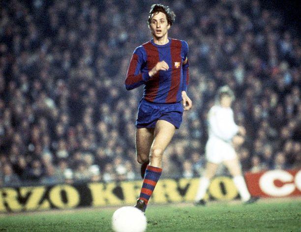 Johan Cruyff oli Barcelonan tähti.
