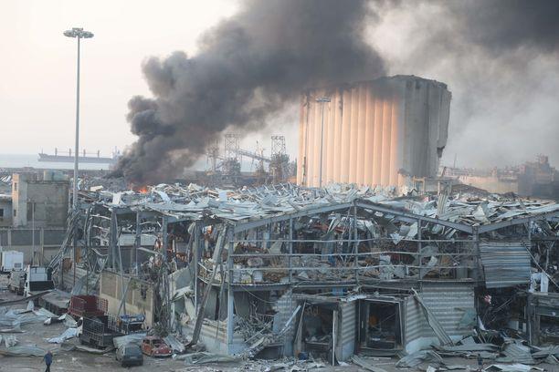 Räjähdys tuhosi laajat alueet Beirutin sataman ympäristöstä.