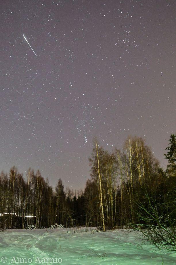 Tulipallo nähtiin laajalla alueella. Aimo Aarnio sai kuvat Lohjalla.