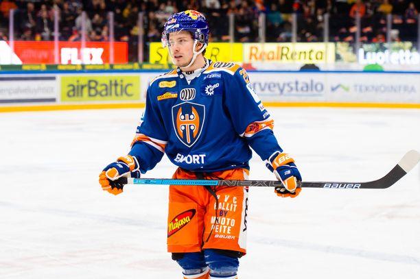 Kristian Tanus teki tiistaina uransa ensimmäisen Tappara-maalin.