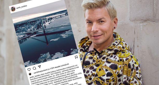 Antti Tuisku on muuttanut väliaikaisesti Lappiin.