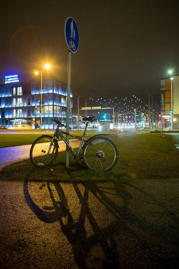 Raision keskustassa oli perjantai-iltana rauhallista.