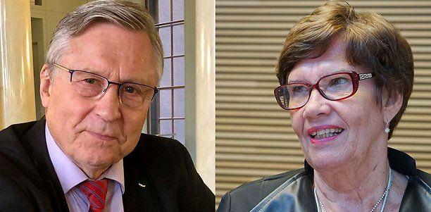 Eduskunnan jättävät Pertti Salolainen (kok) ja Sirkka-Liisa Anttila (kesk) pysyivät tiistaina hiljaa.