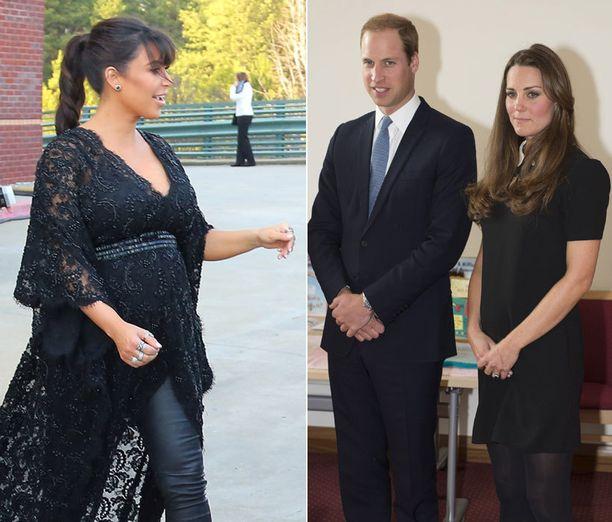 Raskauden muutokset ovat yksilöllisiä. Kim Kardashianin ja herttuatar Catherinen esikoisten lasketut ajat ovat samassa kuussa.