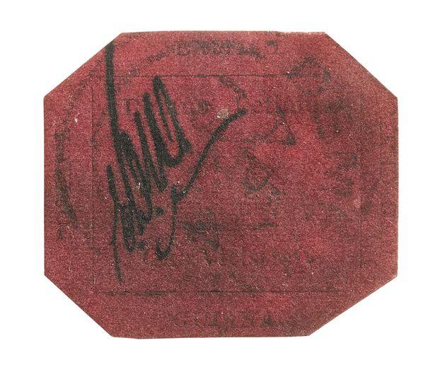 Tämä punasävyinen postimerkki on maailman arvokkain.