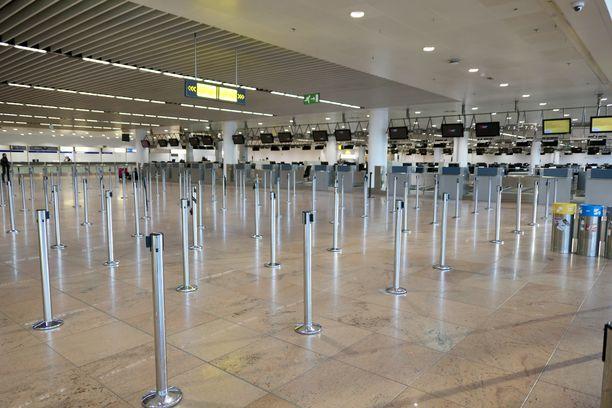 Brysselin lentokenttä näytti keskiviikkona aavemaiselta.