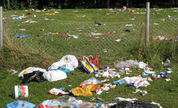 Tältä näytti festareiden jälkeen Luukissa vuonna 2012.