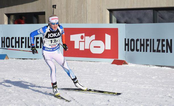 Kaisa Mäkäräinen kilpaili viime viikot Hochfilzenissä MM-kisoissa. Naisen kansainvälinen ura alkoi samassa paikassa vuonna 2005.