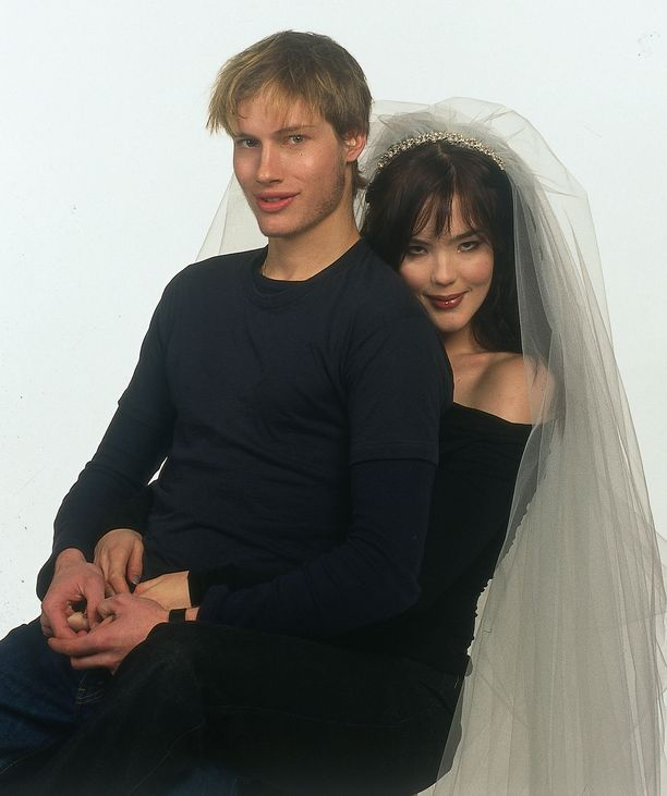 Kim Herold ja Ninja Sarasalo kuvattuna vuonna 1999. Myöhemmin pariskunnan suhde muuttui ystävyydeksi.