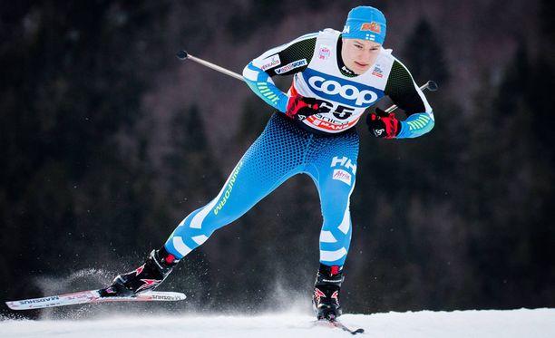 Karri Hakala on yksi 19:stä suomalaishiihtäjästä nuorten MM-kisoissa Park Cityssä, Utahissa.