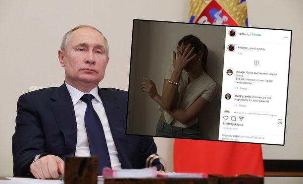 Putinin tyttäreksi väitetty Luiza Rozova esiintyi yöllä sosiaalisen median keskusteluissa.