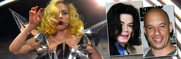 Lady Gaga, Michael Jackson ja Vin Diesel kuuluvat Facebookin tykätyimpiin julkkuihin.