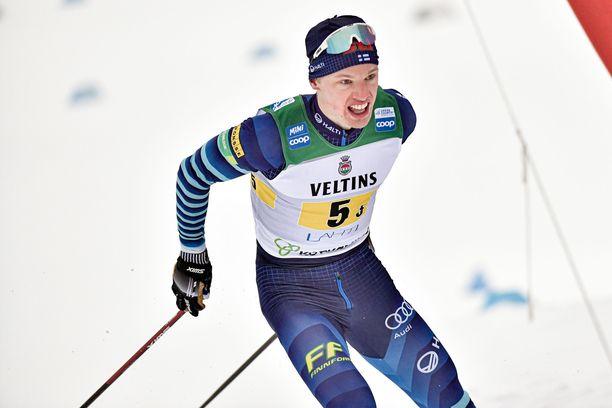 Iivo Niskasen päämatka MM-kisoissa on 50 kilometriä.