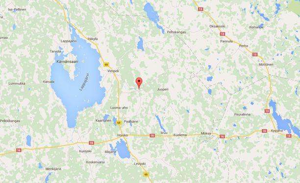 Onnettomuus tapahtui Vimpelin Koskelassa, Etelä-Pohjanmaalla.