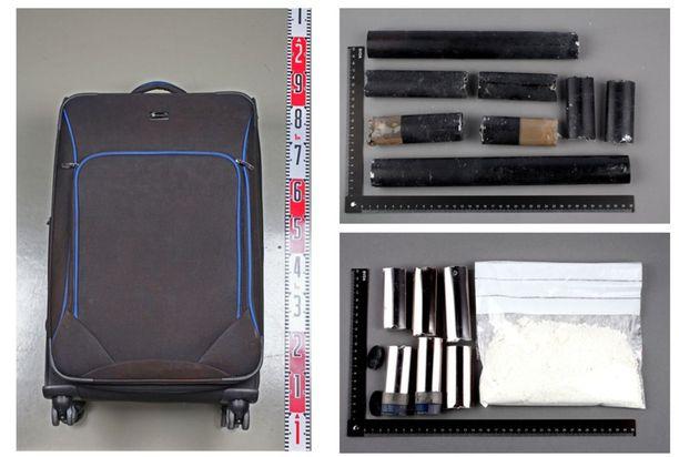 Muulien onnistui salakuljettaa kokaiini Helsinkiin mm. matkalaukkujen rakenteisiin kätkettynä.