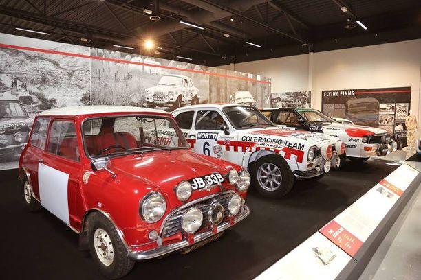 Ikonit-osaston muodostavat legendaariset Mini Cooper, Ford Escort RS 2000 ja Audi quattro.