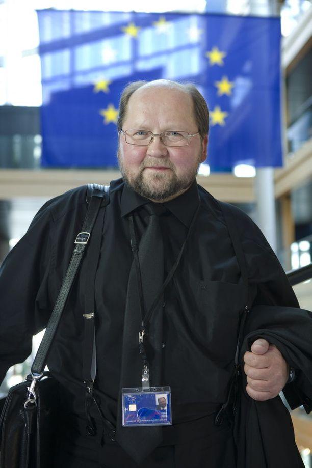 Europarlamentaarikko Mitro Repo (sd) Strasbourgissa Ranskassa vuonna 2009.