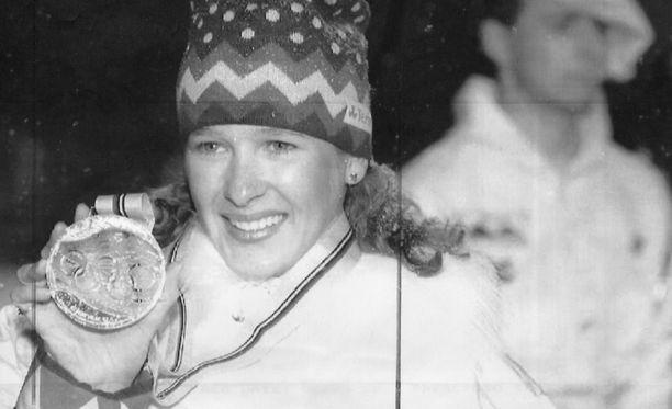 Marjut Rolig voitti olympiakultaa vuonna 1992.
