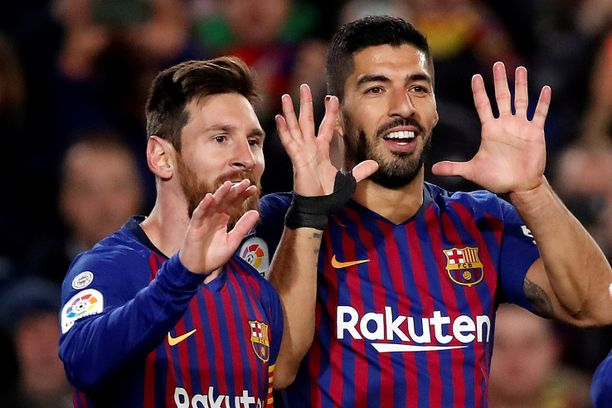 Lionel Messi ja Luis Suárez tekivät selvää jälkeä Eibarista.