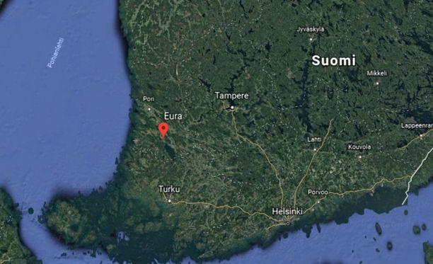 Eura sijaitsee vajaat 90 kilometriä Turusta pohjoiseen.