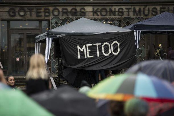 Tukholman lisäksi #metoo-teeman mukainen mielenosoitus järjestettiin ainakin Göteborgissa.