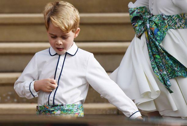 Prinssi Georgella oli tärkeä sulhaspojan tehtävä viime syksynä prinsessa Eugenien häissä.