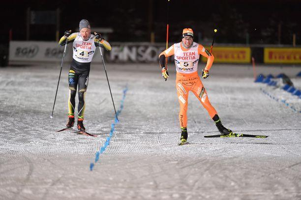Ristomatti Hakola ankkuroi Jämin Jänteen voittoon ja jätti Iivo Niskasen ankkuroiman Puijon Hiihtoseuran kakkoseksi.