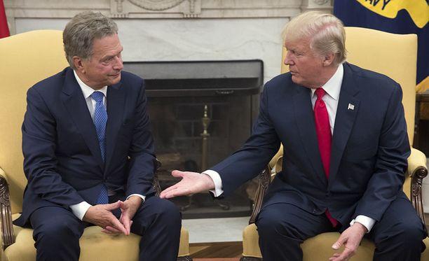Presidentti Sauli Niinistö kuittasi Donald Trumpin leikkimielisen vitsin heti.