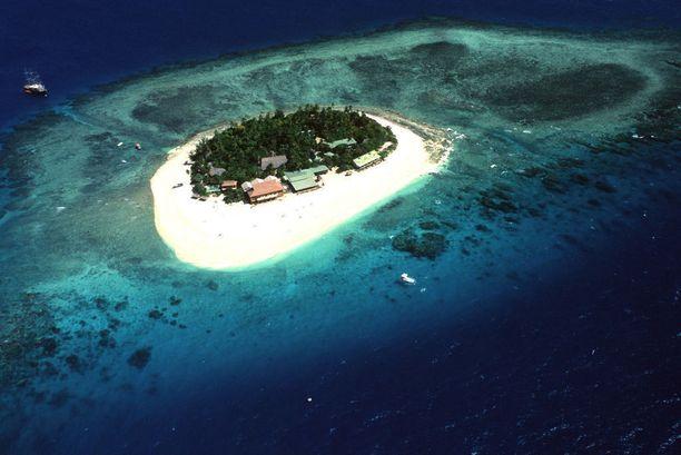 Loma-asuntoja Fidzin Beachcomber Island -saarella.