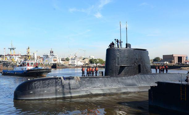 Argentiinan laivaston julkaisema kuva kadonneesta aluksesta.