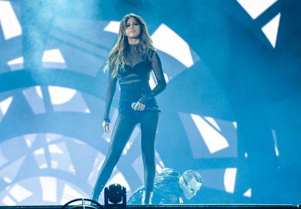 Selena Gomez lavalla Kanadan Quebecissä vuoden 2016 heinäkuussa.
